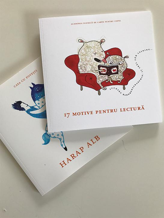De ce sunt importante cărțile pentru copii? Academia suedeză de carte ilustrată pentru copii propune 17 motive reunite într-o ediție bilingvă apărută cu ocazia prezenței Suediei ca țară invitată la Bookfest 2017. Un alt exemplu elocvent și inspirant este Junibacken – spațiul dedicat lecturii pentru copii și fanteziei, un model pentru proiectul românesc în lucru Harap Alb.